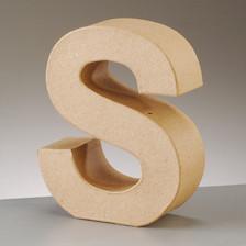 Buchstabe S aus Pappmaché , H 10 x B 8 x T 3 cm