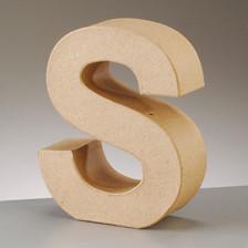 Buchstabe S aus Pappmaché , H 17,5 x B 13,8 x T 5,5 cm