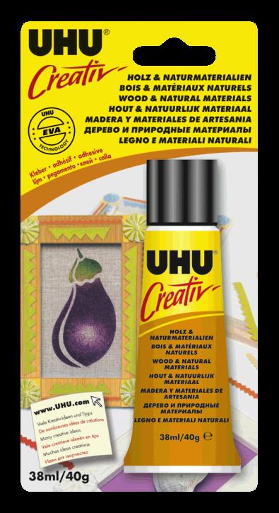 Creativ' Spezialklebstoff für Holz & Naturmaterialien Tube 38 ml (Blister)  Hochwertige Formel, trocknet klar