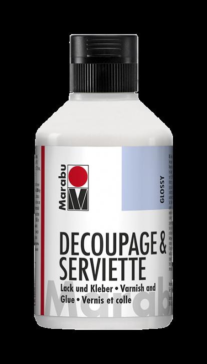 Decoupage & Serviette Glänzend Lack und Kleber 250ml