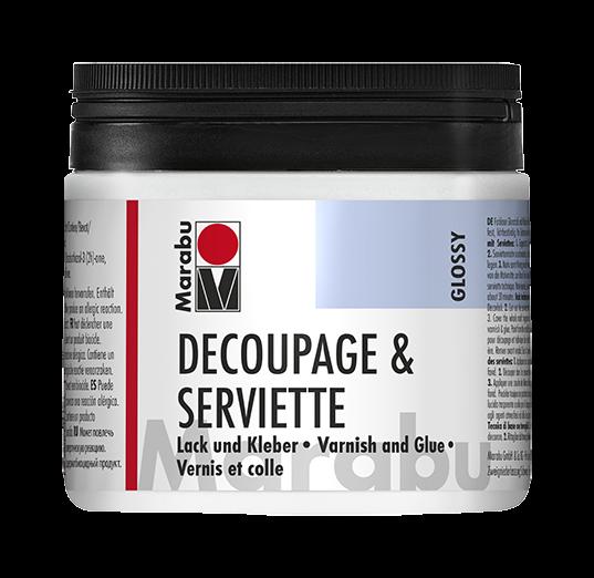 Decoupage & Serviette Glänzend Lack und Kleber 500ml