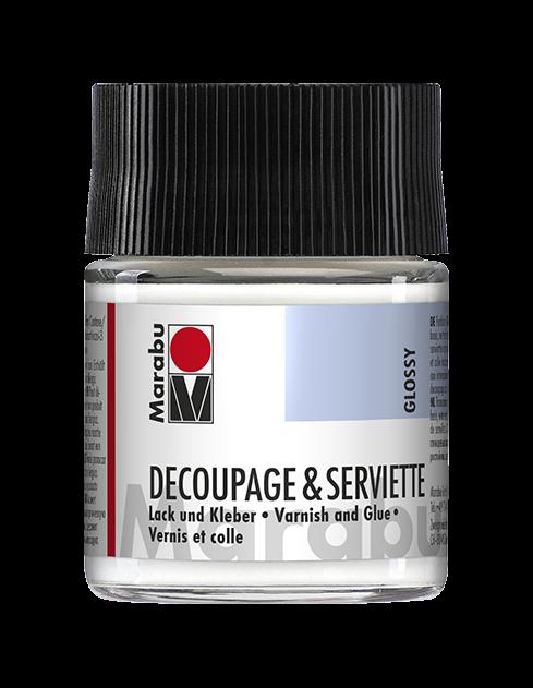 Decoupage & Serviette Glänzend Lack und Kleber 50ml