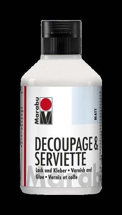Decoupage & Serviette Matt Lack und Kleber 250ml