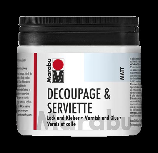 Decoupage & Serviette Matt Lack und Kleber 500ml