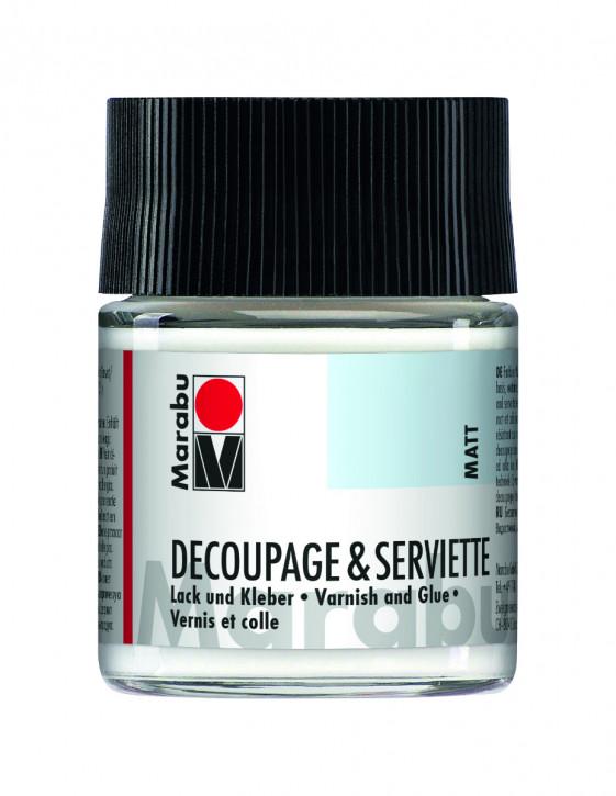 Decoupage & Serviette Matt Lack und Kleber 50ml