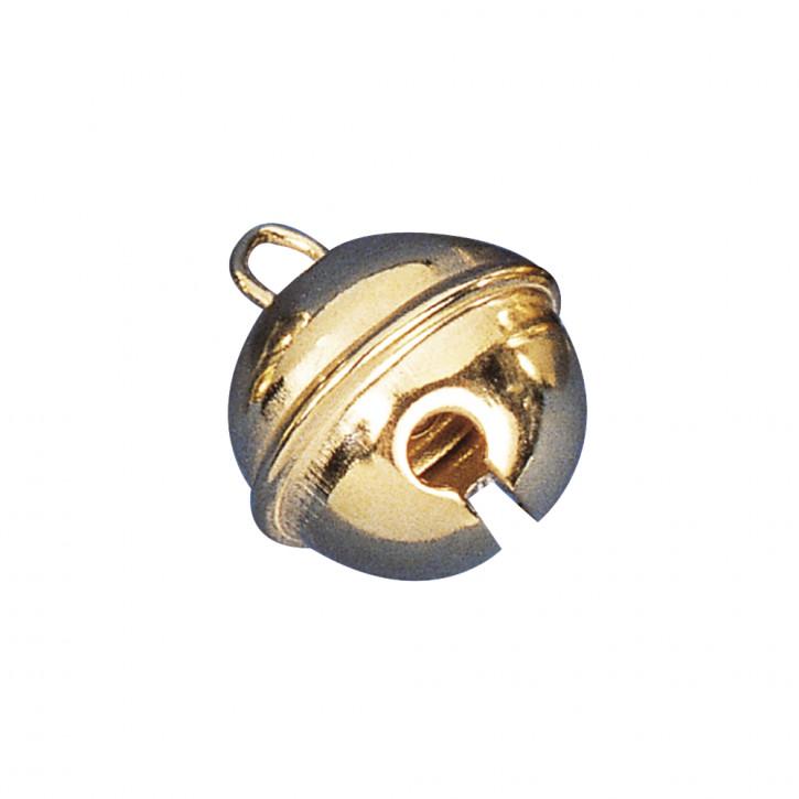 Deko-Metallglöckchen kugelförmig 24 mm