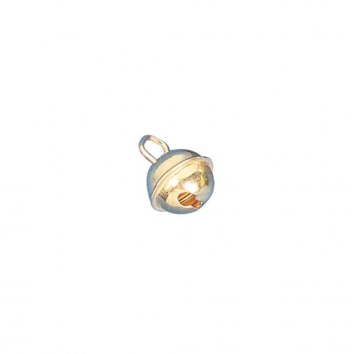 Deko-Metallglöckchen kugelförmig 9 mm