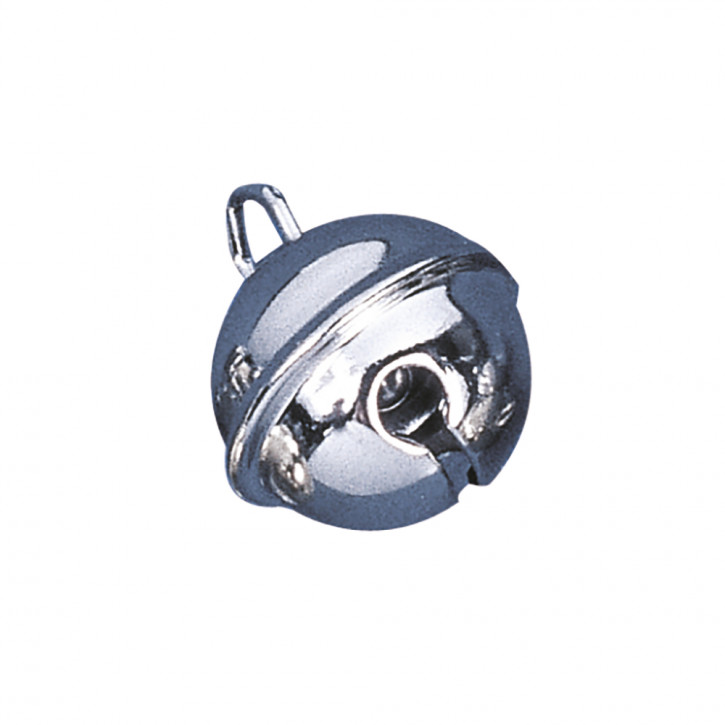 Deko-Metallglöckchen Silber kugelförmig 19 mm