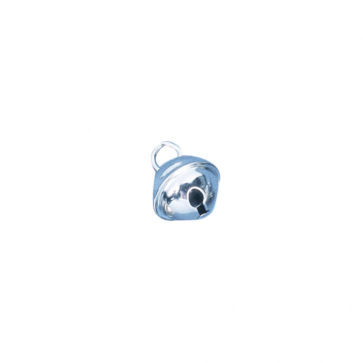 Deko-Metallglöckchen Silber kugelförmig 9 mm