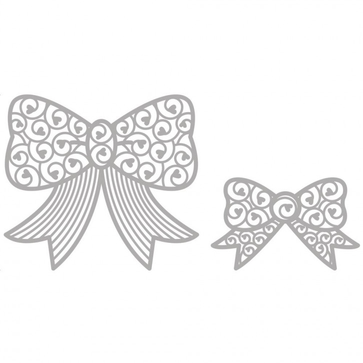 Delicate Die- Bows 6,4x4cm+8,4x7,5cm, SB-Etui 2Stück
