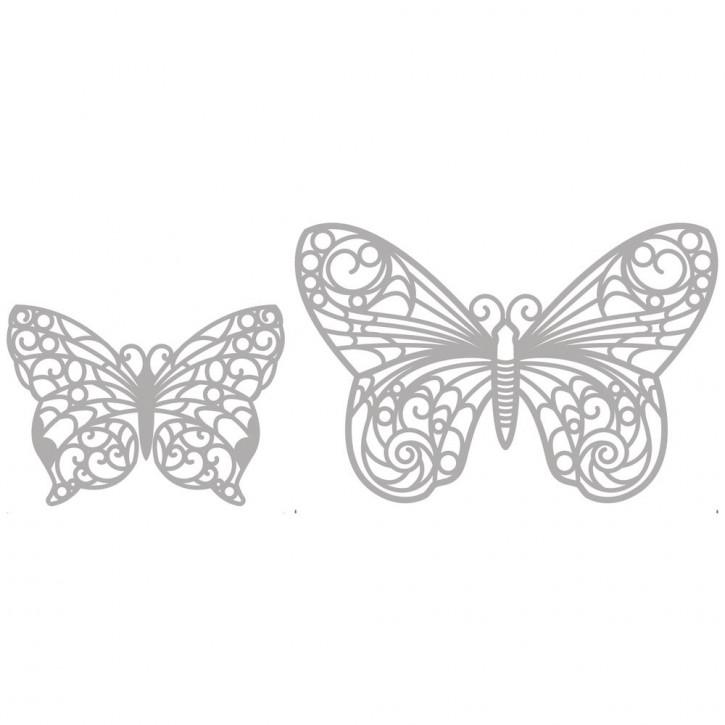 Delicate Die- Butterflies 6,2x4,5cm+9,5x6,3cm, SB-Etui 2Stück