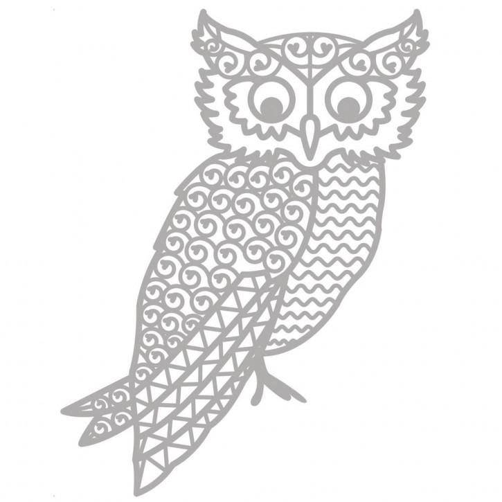 Delicate Die- Owl 9x11,9cm, SB-Etui 1Stück