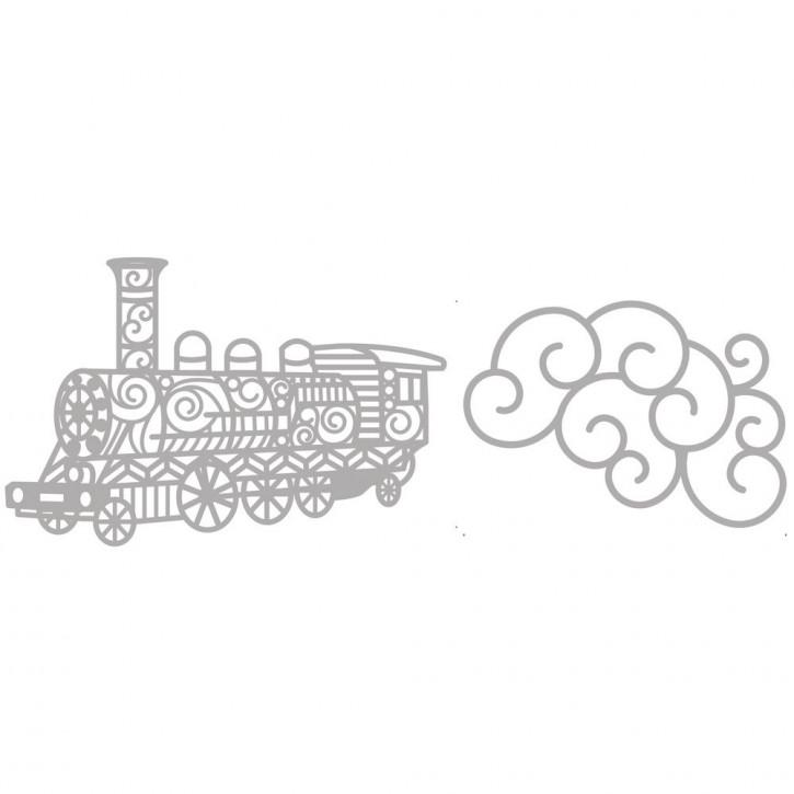 Delicate Die- Train 5,8x8,2cm+11,2x7,3cm, SB-Etui 2Stück