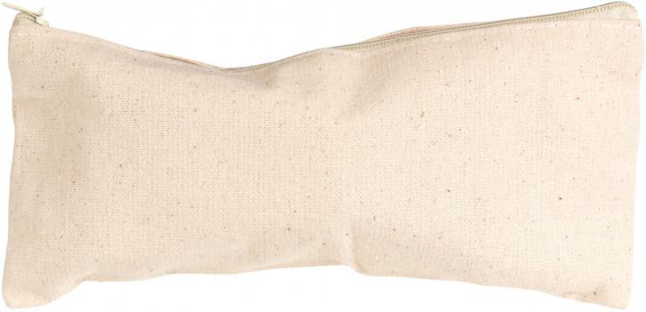 Federtasche Baumwolle, natur Länge 21cm, 9cm Ø, 4 Stück