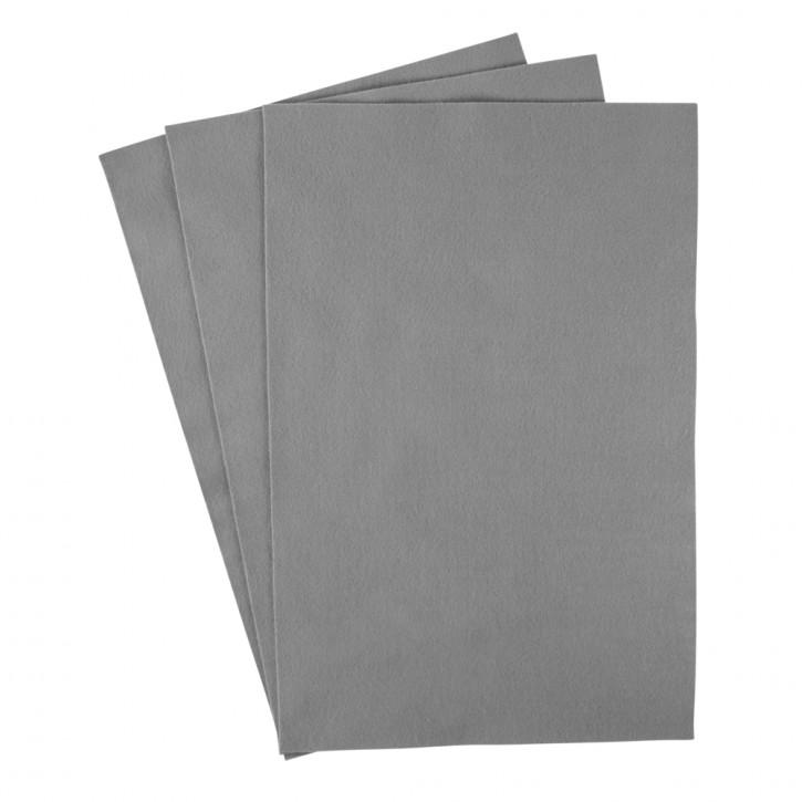 Filzzuschnitte 20x30 cm, 0,8-1 mm Grau