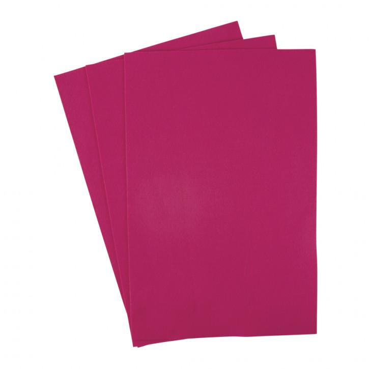 Filzzuschnitte 20x30 cm, 0,8-1 mm Pink