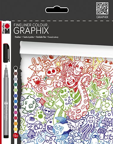 Fineliner Colour GRAPHIX Set 12 Stifte