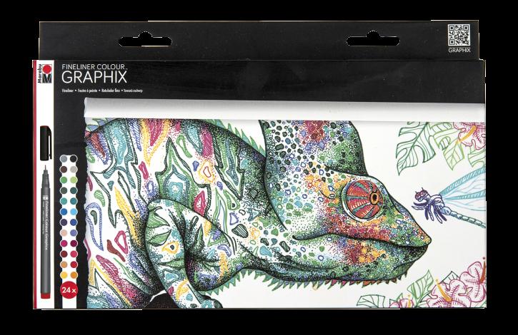 Fineliner Colour GRAPHIX Set 24 Stifte