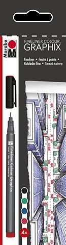 Fineliner Colour GRAPHIX Set 4 Stifte