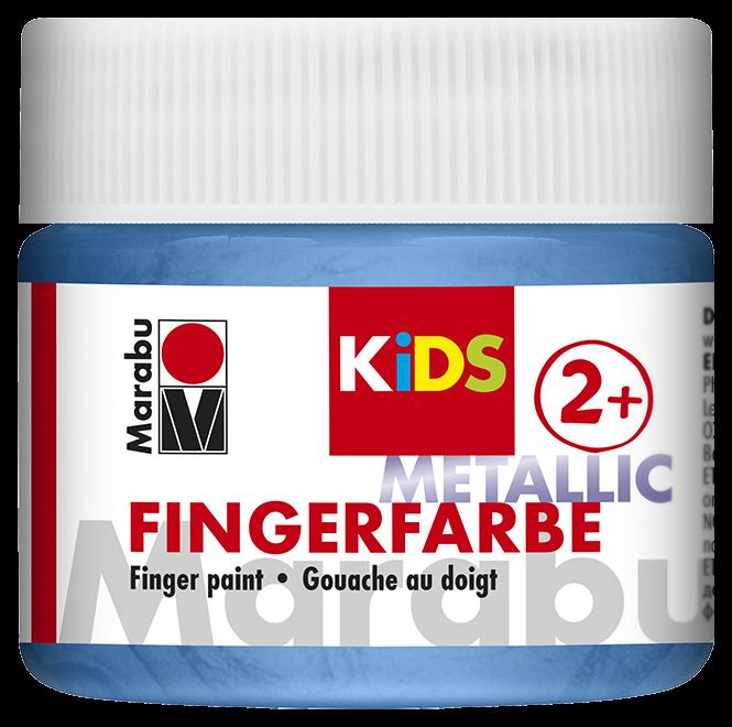 Fingerfarbe Metallic-Blau Dose 100ml