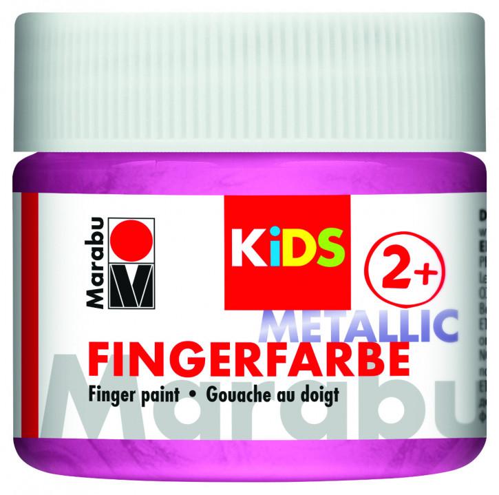 Fingerfarbe Metallic-Rosa Dose 100ml