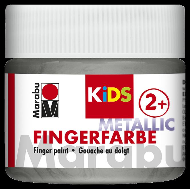 Fingerfarbe Metallic-Silber Dose 100ml