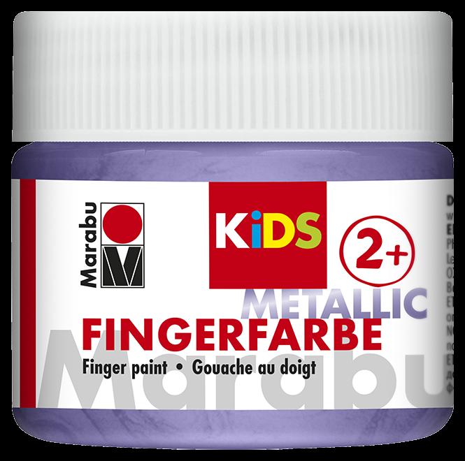 Fingerfarbe Metallic-Violett Dose 100ml