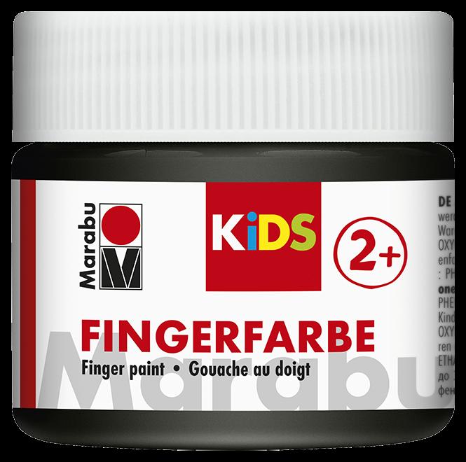 Fingerfarbe Schwarz Dose 100ml