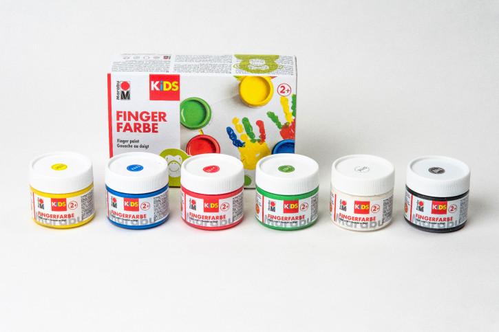 Fingerfarbe Set 6 Dosen 100ml