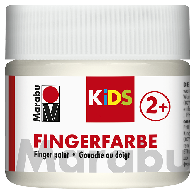 Fingerfarbe Weiß Dose 100ml