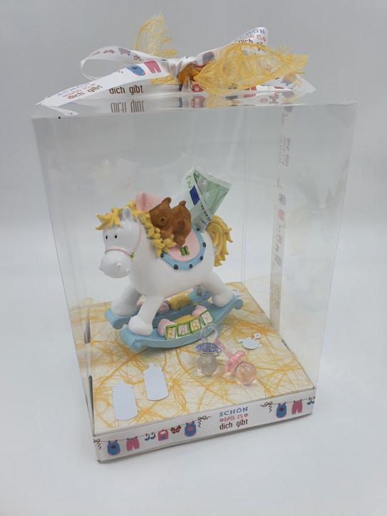 Geschenkbox, Geldgeschenk Geburt, Junge & Mädchen , 18x18x25cm