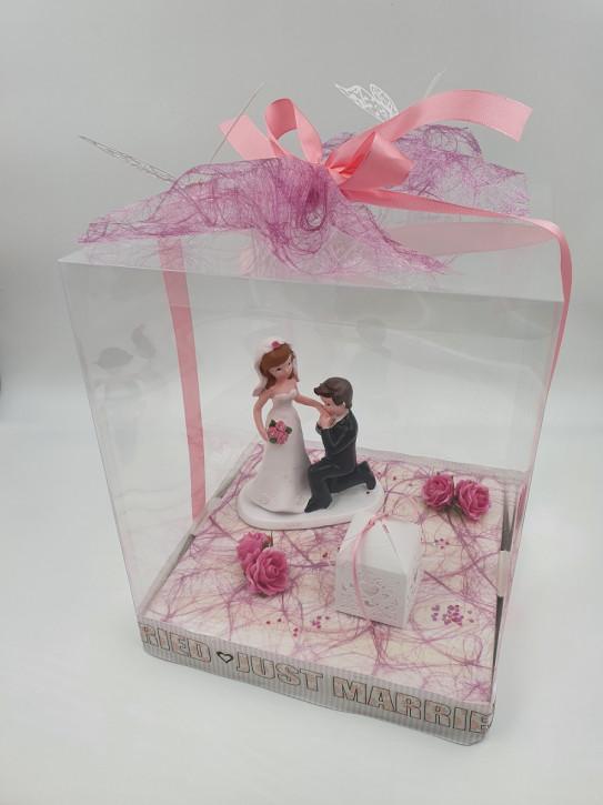 Geschenkbox, Geldgeschenk Hochzeit, 25x25x30cm