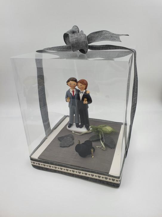 Geschenkbox, Geldgeschenk Hochzeit Bräutigam & Bräutigam , 25x25x30cm