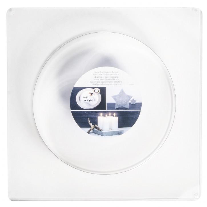 Gießform: Kreis, 18,5cm ø Tiefe 4 cm