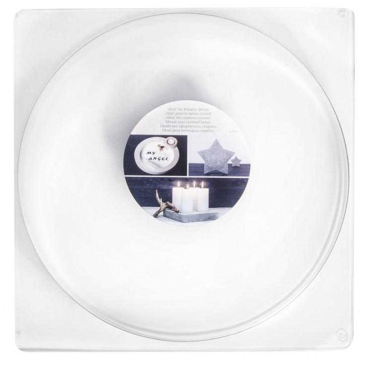 Gießform: Kreis, 25cm ø Tiefe 4 cm