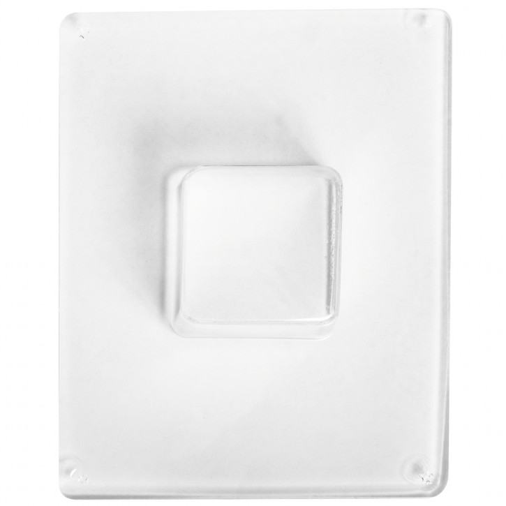 Gießform: Quadrat 4,5x4,5cm, Tiefe 3,5 cm