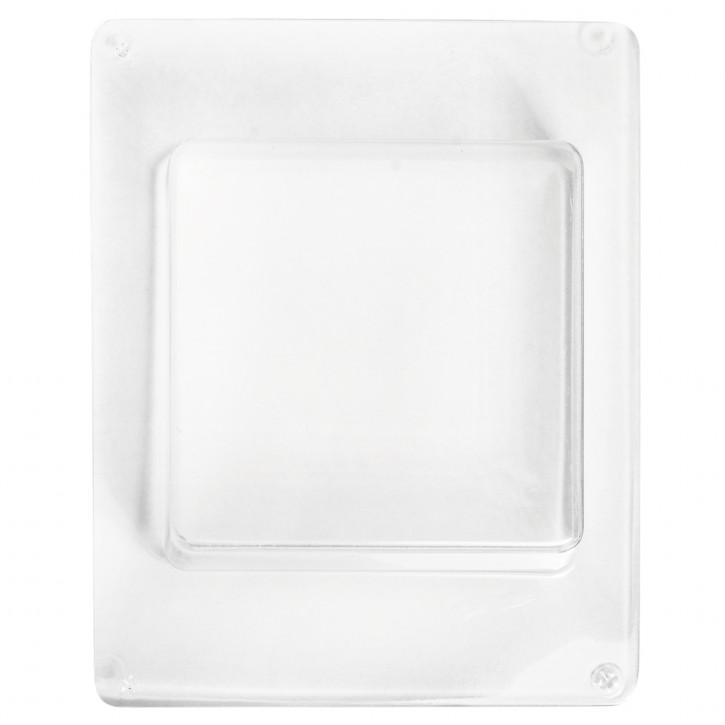 Gießform: Quadrat 8,5x8,5cm, Tiefe 3,5 cm