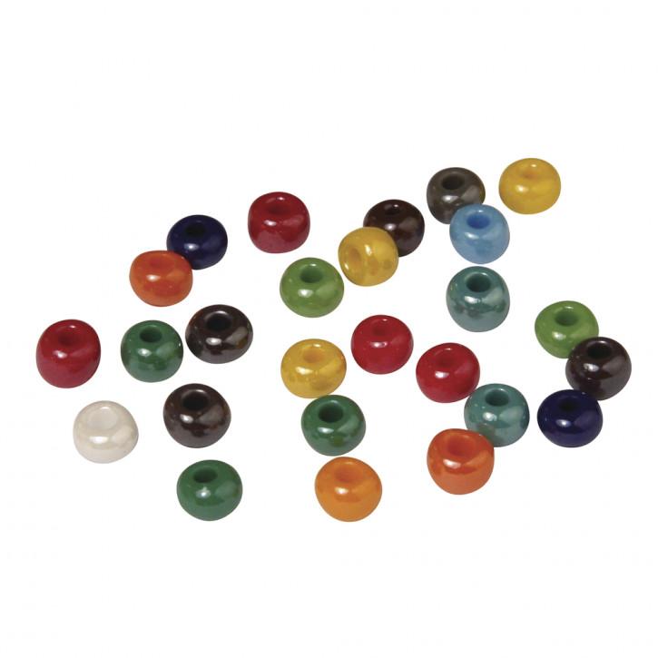 Glas-Großlochradl, opak 6 mm, Dose 55g, gemischt
