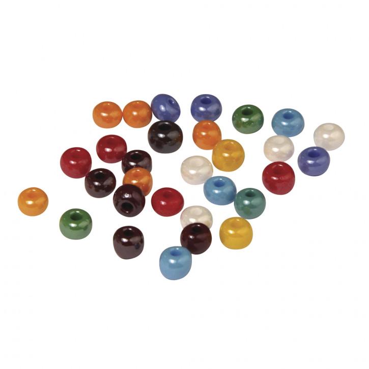 Glas-Großlochradl, opak 8,7 mm, Dose 55g, gemischt