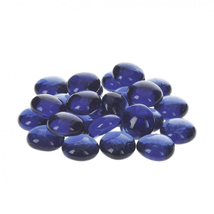 Glas-Nuggets, blau, 18-20mm, 100g