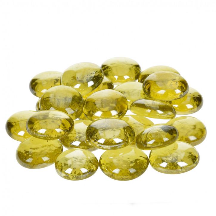Glas-Nuggets, gelb, 18-20mm, 100g