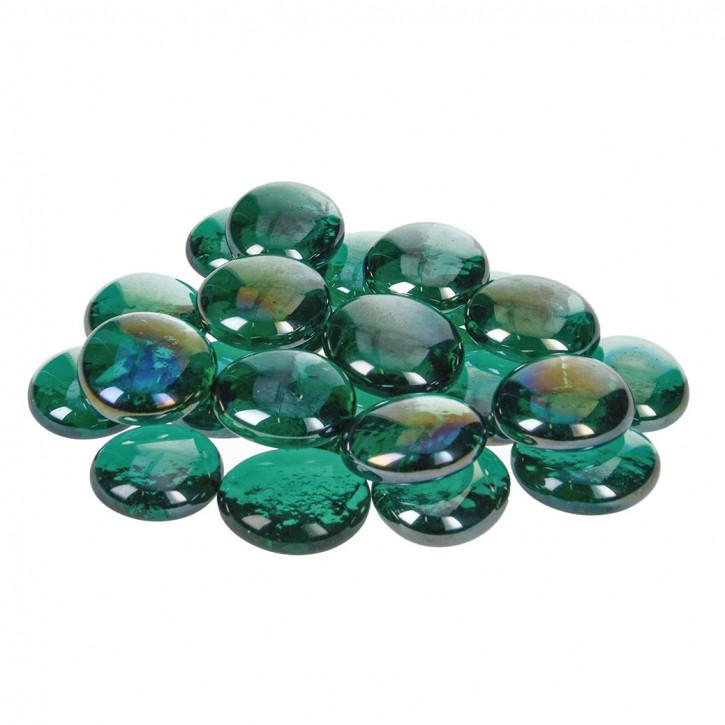 Glas-Nuggets, grün, 18-20mm, 100g