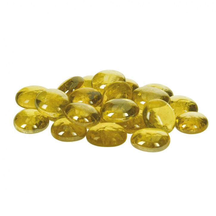 Glas-Nuggets, irisierend, gelb, 18-20mm, 100g