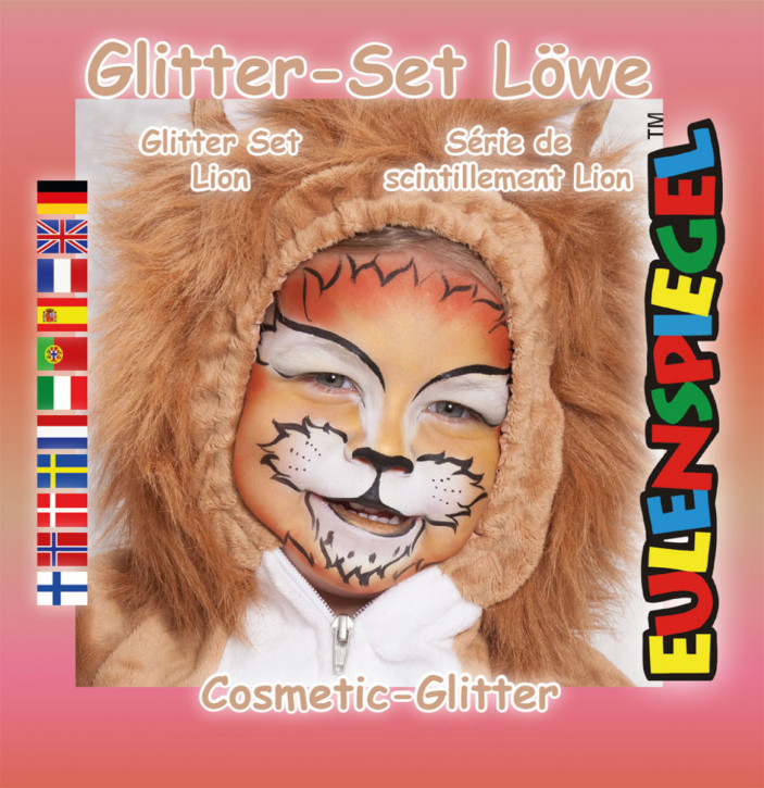 Glitzer Schmink-Set Löwe