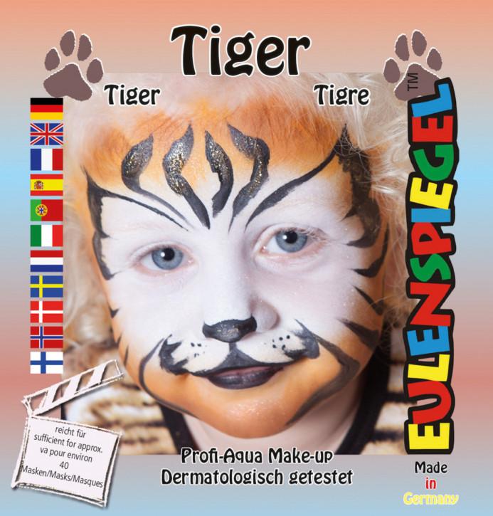Glitzer Schmink-Set Tiger