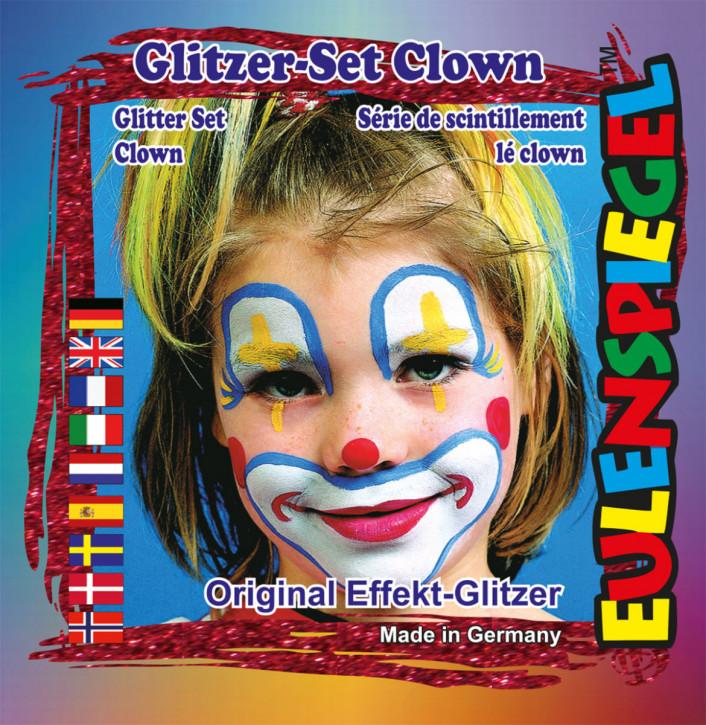 Glitzer-Set Clown