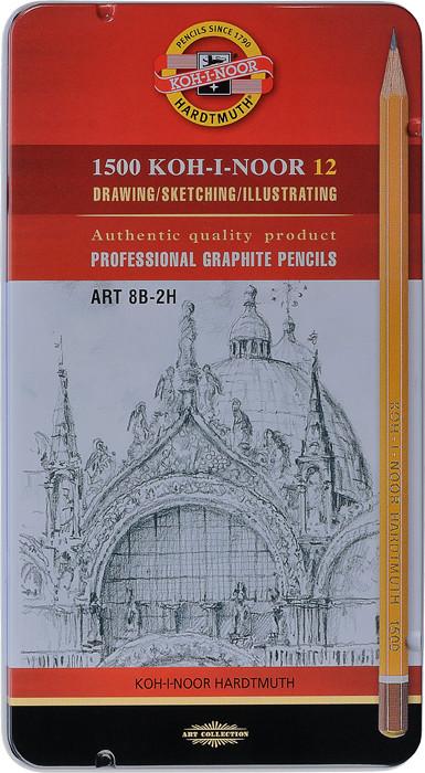 Graphitzeichenstifte 1502 Graphic Set 5B-5H