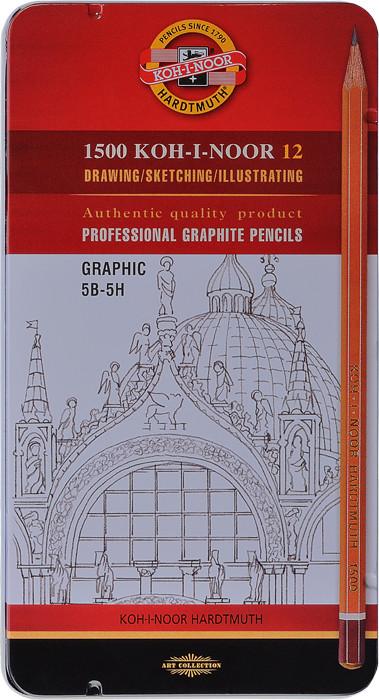 Graphitzeichenstifte 1502 Graphic Set 5B-5H.