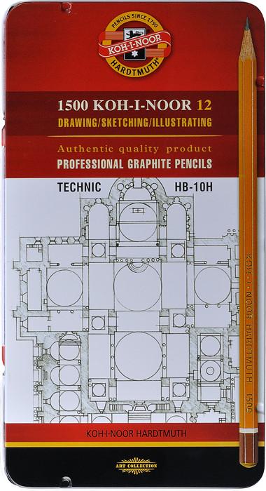 Graphitzeichenstifte 1502 Graphic Set HB-10H.