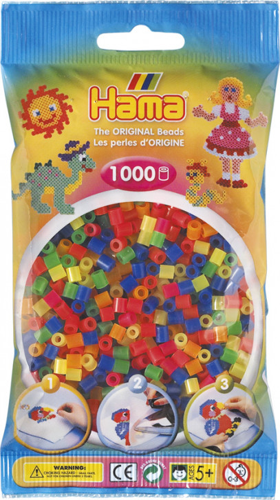 Hama Bügelperlen Transparent 1000Stück